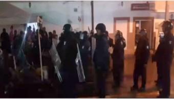 Foto: Intento de desalojo terminó el balacera en municipio de San Luis Potosí, 14 de septiembre de 2019 (Noticieros Televisa)