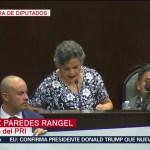 FOTO: Beatriz Paredes Rangel fija postura por Primer Informe de AMLO, 1 septiembre 2019