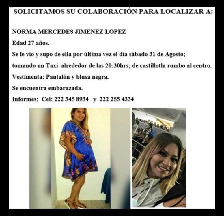 FotoBuscan a embarazada que abordó taxi en Puebla y desapareció 4 septiembre 2019