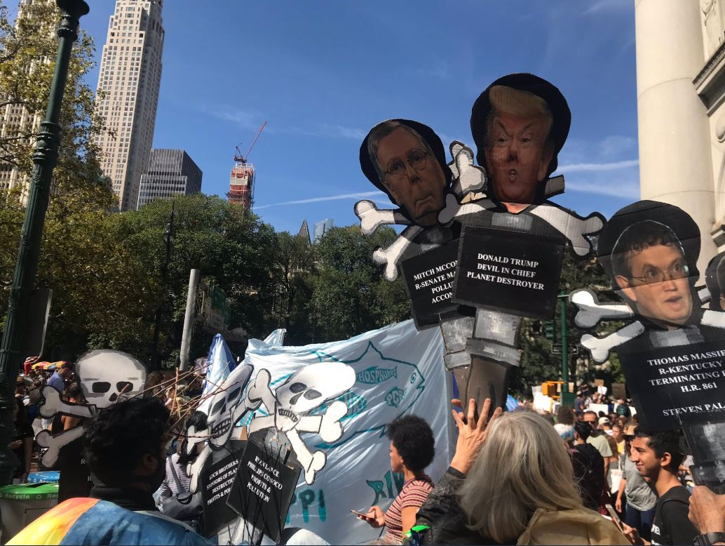 Marcha en Nueva York contra el cambio climático, 20 septiembre 2019