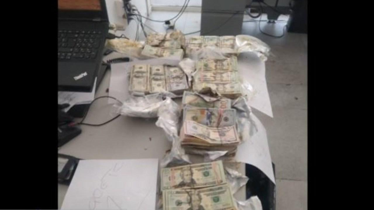 Foto: La cantidad total que aseguraron fue de 649 mil 890 dólares en efectivo, 22 de septiembre de 2019 (FOROtv)