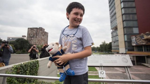 Foto:Carlos Santamaría, el estudiante más joven de la UNAM. 23 Septiembre 2019