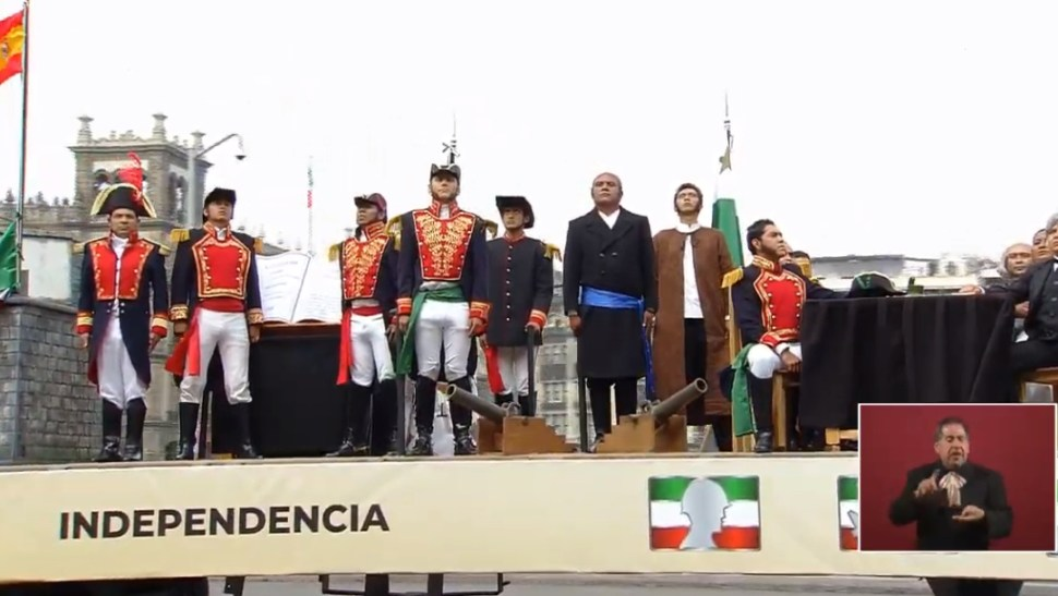 PHOTO Allegorical car depicting Mexico's independence at a military parade on September 16 (YouTube)