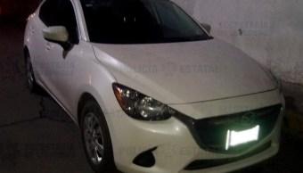 Foto: La detenida y la unidad fueron remitidos a la Fiscalía Especializada en el Delito de Robo de Vehículo OCRA Atizapán, donde se resolverá su situación jurídica, 17 de septiembre de 2019 (Twitter @SS_Edomex)
