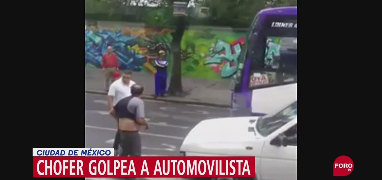 FOTO: Video Chofer Transporte Público Golpea Conductor