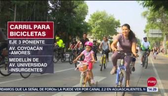 FOTO: Ciclistas Tendrán Nuevos Espacios Para Transitar CDMX