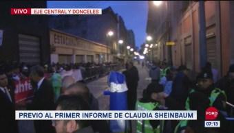 Cierran circulación en Donceles por primer informe de Claudia Sheinbaum