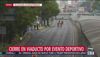 Cierre en Viaducto por evento deportivo