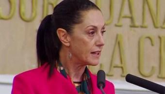 FOTO Claudia Sheinbaum rinde primer informe de Gobierno en CDMX (Twitter)
