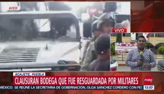 FOTO: Clausuran Bodega Donde Almacenaban Combustible Robado Puebla