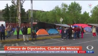 CNTE mantiene campamento en inmediaciones de San Lázaro