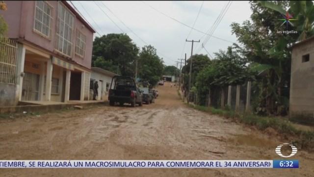 Comando armado mata a tres personas en Oaxaca