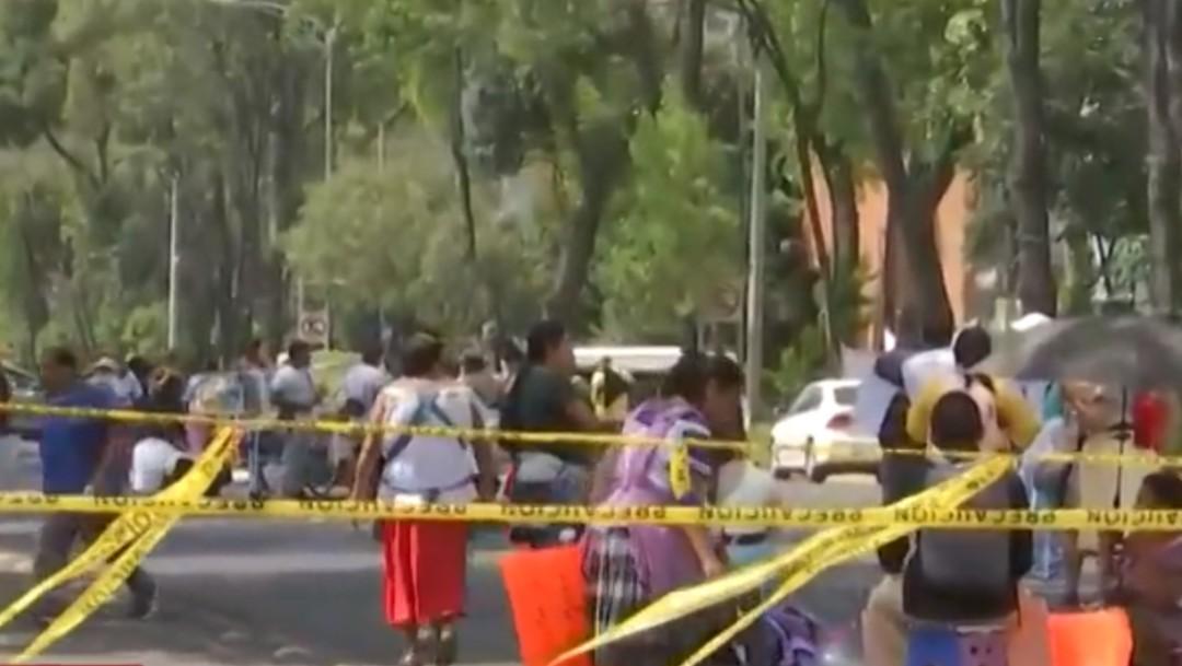 Foto: Comunidades indígenas bloquean calzada México-Coyoacán, 5 de septiembre de 2019, Ciudad de México