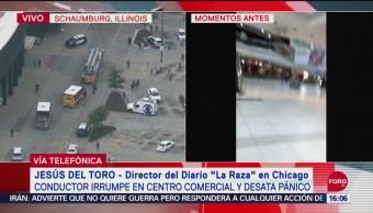 FOTO: Conductor Irrumpe Plaza Comercial Desata Pánico Chicago,
