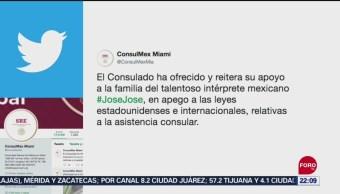 FOTO: Consulado de México en Miami apoya a familiares de José José, 29 septiembre 2019