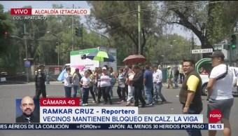 FOTO: Continúa Bloqueo Calzada De La Viga Iztacalco