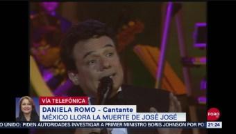 FOTO: Daniela Romo recuerda a José José, 28 septiembre 2019