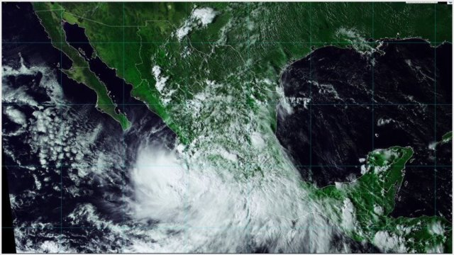 Foto: Narda ya es depresión tropical, 29 de septiembre de 2019 (Conagua)