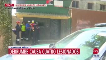 Derrumbe en vivienda causa cuatro lesionados en Miguel Hidalgo