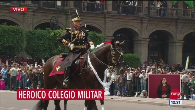 FOTO: Desfilan cadetes del Heroico Colegio Militar en aniversario 209 de Independencia de México, 16 septiembre 2019