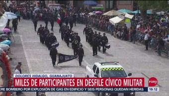 FOTO: Desfilan militares en Dolores Hidalgo, Guanajuato, 16 septiembre 2019