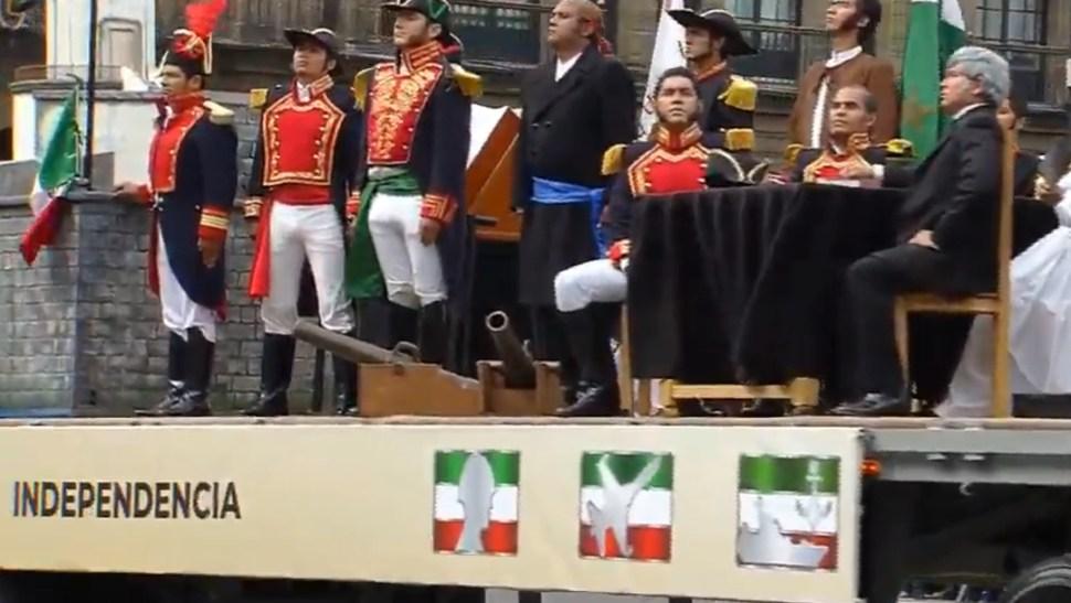 FOTO Desfile militar 2019 muestra carros alegóricos de las transformaciones de México (YouTube)