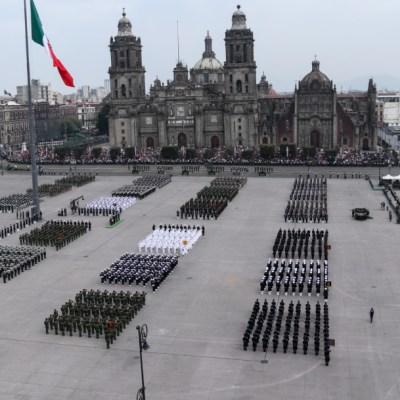 Así fue el desfile militar 2019, primero con la participación de la Guardia Nacional