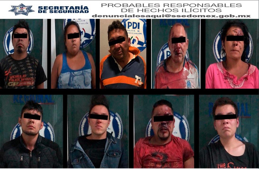 Detenidos en Cuautitlán