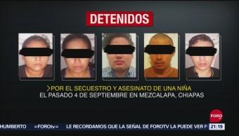 FOTO: Detienen a cinco por asesinato de niña en Chiapas, 14 septiembre 2019