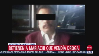 FOTO: Detienen Mariachi Que Vendía Droga Monterrey