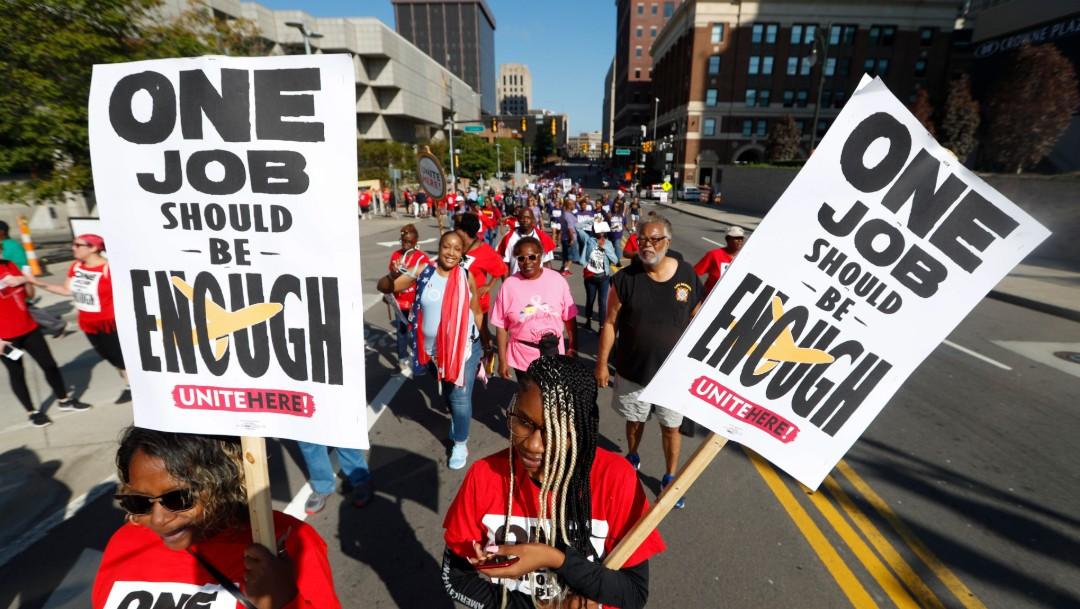 Foto: Marcha del Día del Trabajo, 2 de septiembre de 2019, Detroit, Estados Unidos