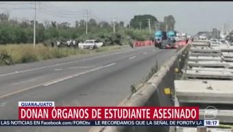 FOTO: Donan Órganos Estudiante Asesinado Guanajuato