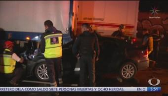 Dos hombres salen ilesos tras accidentes vehiculares en CDMX
