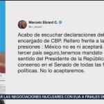Foto: Ebrard México No Aceptará Tercer País Seguro 9 Septiembre 2019
