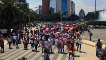 Foto La marcha del silencio contra los feminicidios concluyó en la Plaza de la Constitución, 8 de septiembre de 2019 (FOROtv)