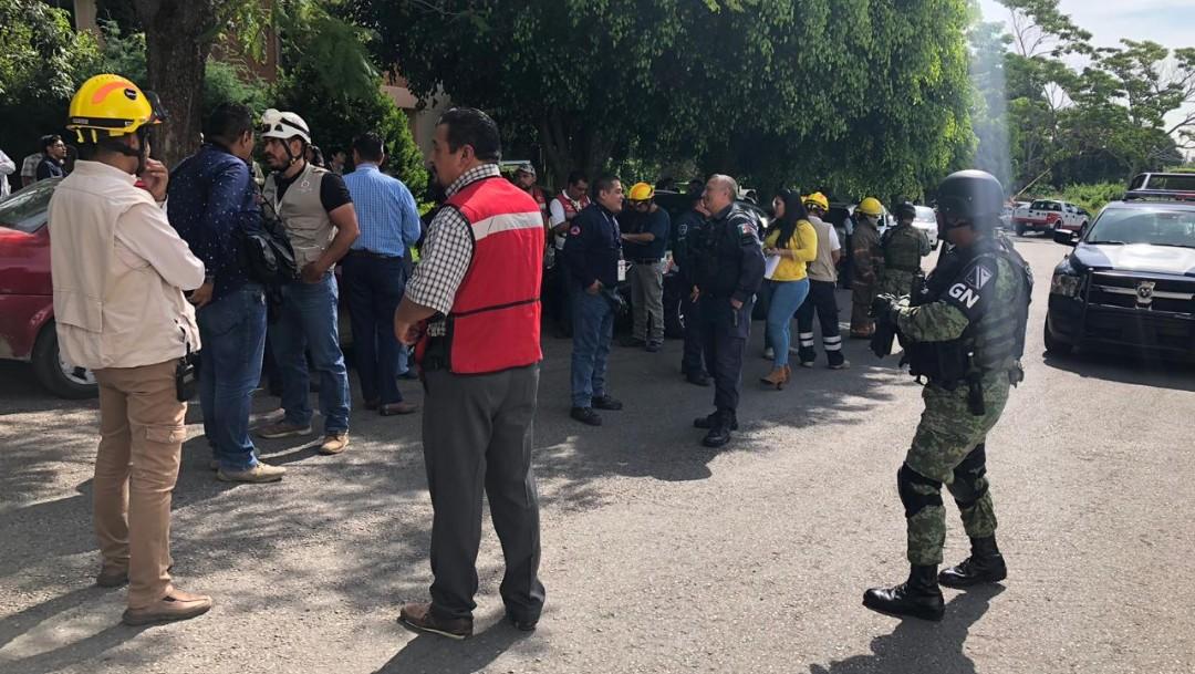 Foto: Autoridades de todos los niveles atendieron la emergencia, 5 de septiembre de 2019 (Twitter)