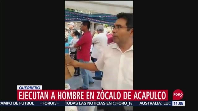 Ejecutan a hombre en Zócalo de Acapulco, Guerrero