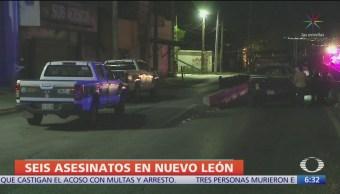 Ejecutan a tres personas en Nuevo León