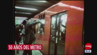 El Metro de la CDMX cumple 50 años