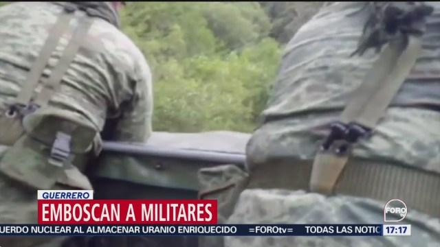 FOTO: Emboscan elementos Ejército Guerrero