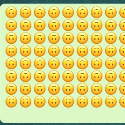 Esto significa el emoji de la carita feliz volteada