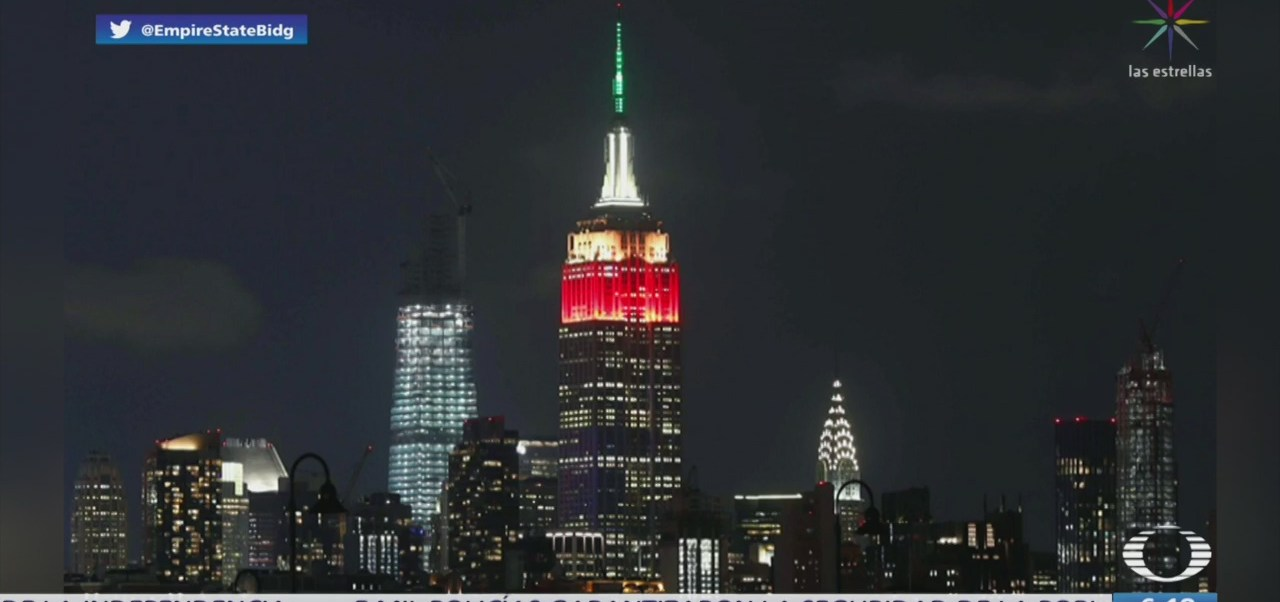 FOTO: Empire State celebra Independencia de México con luces tricolor, 16 septiembre 2019