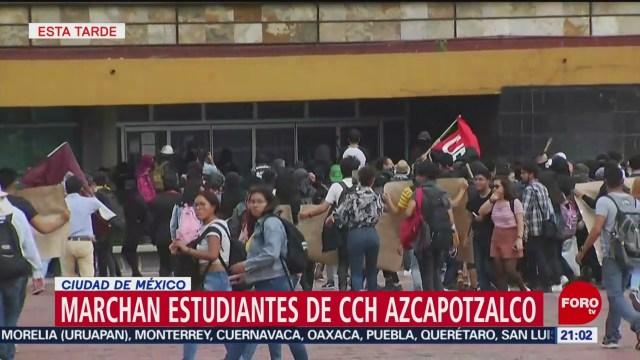 Foto: Encapuchados Revienta Marcha Pacífica Cch Vandalizan Rectoría 3 Septiembre 2019