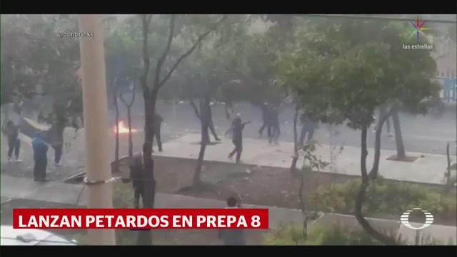 FOTO: Encapuchados se manifiestan en la prepa 8 de la UNAM, 13 SEPTIEMBRE 2019