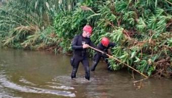 FOTO Encuentran al bebé arrojado a un río por su propio padre, en España (Twitter)