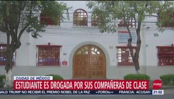 Foto: Estudiante Drogada Juguito Feliz Compañeras Clase UVM 23 Septiembre 2019