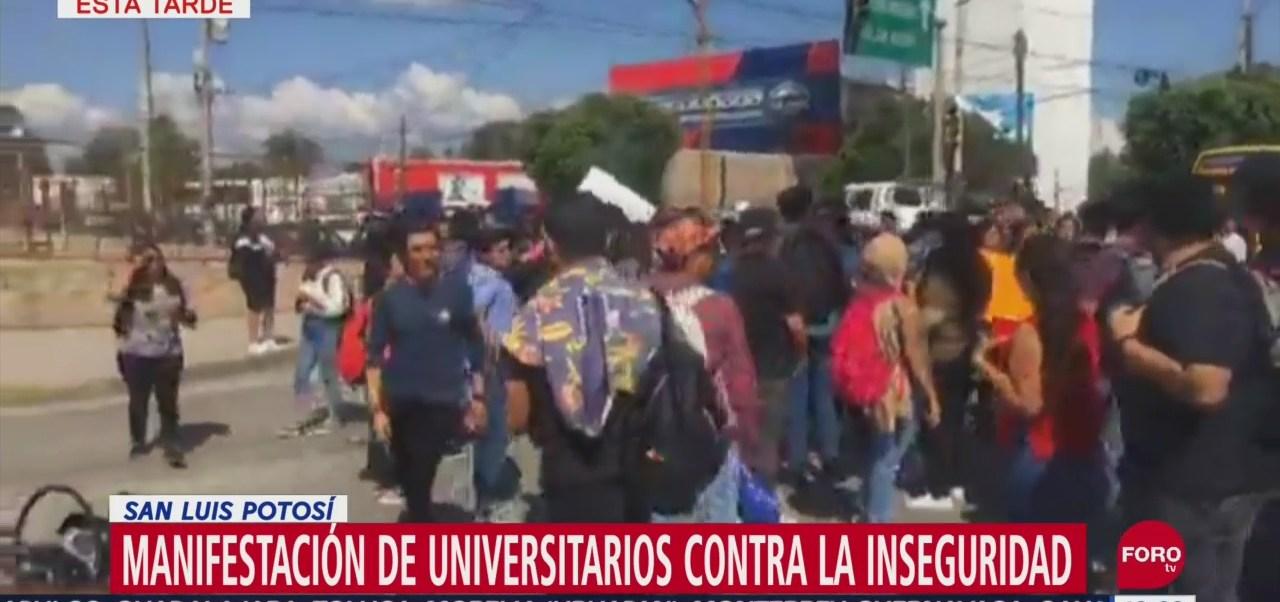 Foto: Protestan Estudiantes Uaslp Intento Secuestro 10 Septiembre 2019