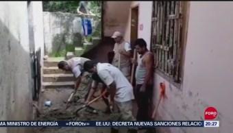 FOTO: Evalúan daños tras lluvias en Chiapas, 17 septiembre 2019
