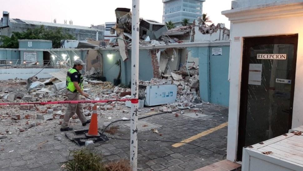Foto: Explosión por fuga de gas en restaurante, 10 de septiembre de 2019, Boca del Río, Veracruz