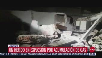 Explosión por acumulación de gas deja un lesionado en Zapopan, Jalisco